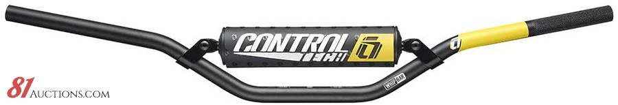 """Controltech Whip 7//8/"""" Handlebar High Rise with Pads Black Gray Decal"""